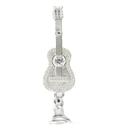 Pulsera guitarra Plata Chapada