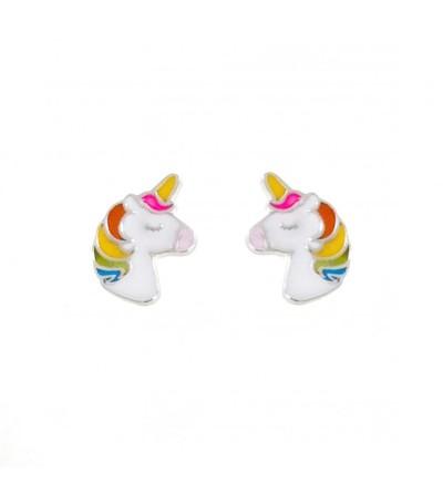 Pendientes unicornio esmalte