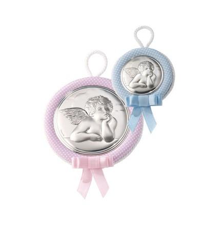 Medallon musical Angel rosa