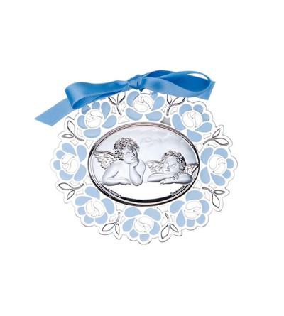 Medallon Angel Rafael Celeste 7,5x6