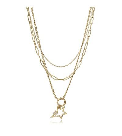 Collar multi estrella Viceroy Dorado