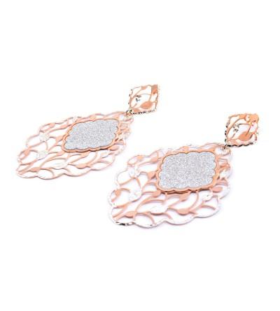 Pendientes plata rosa