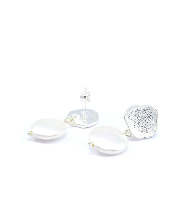 Pendientes plata con perla