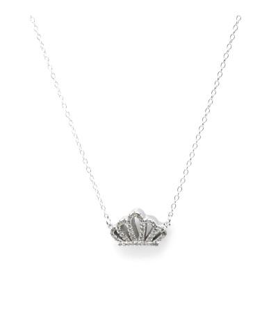 Gargantilla plata corona