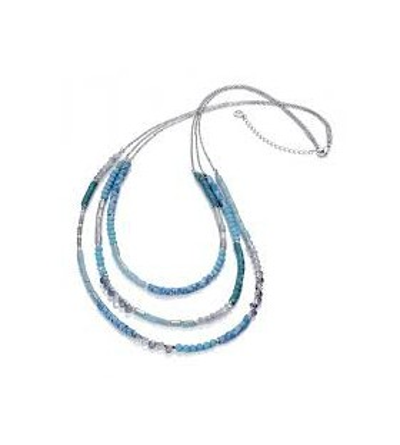 Collar Metal Sintetico y cristal