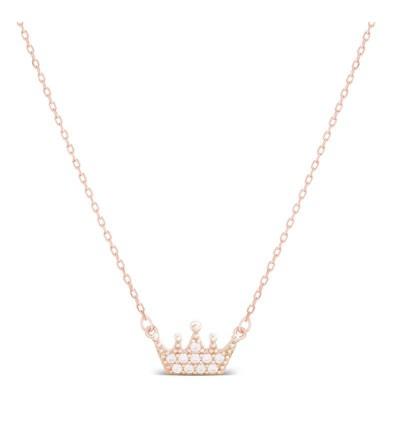 Collar Corona Rosa