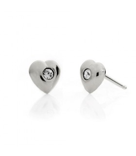 Pendientes corazon simple