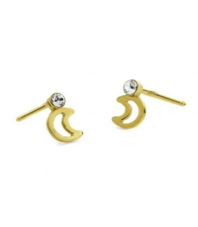 Pendientes luna simple