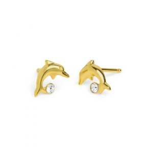 Pendientes delfin simple