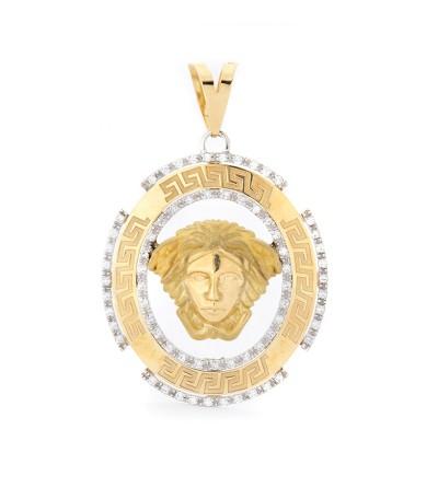 Colgante cristo oro circonitas