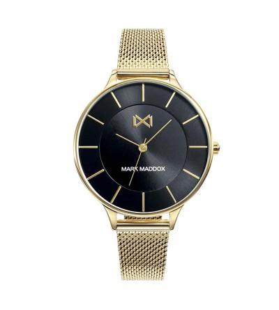 Pack Reloj Acero Dorado Brazalete+pulsera