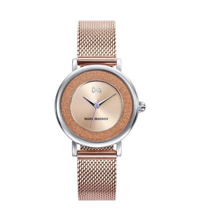 Reloj Acero Rosa